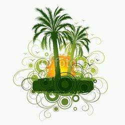 Naklejka samoprzylepna palmy