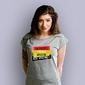 Zajebiści faceci jeszcze nie wyginęli t-shirt damski jasny melanż xs