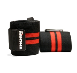Ściągacze na nadgarstki 24 thorn+fit czarno - czerwone