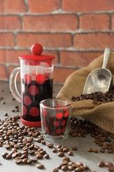 Mała kawiarka french press dot dot 0,35 litra zak designs biała 1313-881