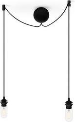 Zawieszenie do lamp z podsufitką cannoball cluster 2 czarne