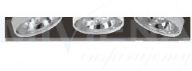T-720 oczko 3x100w ar111 g53 biały