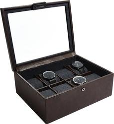 Pudełko na zegarki stackers ośmiokomorowe brązowe