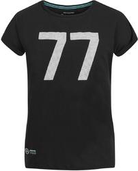 Koszulka damska mercedes amg bottas 77 czarna - czarny