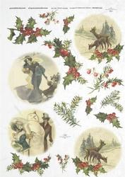 Papier ryżowy ITD A4 R178 Święta Vintage