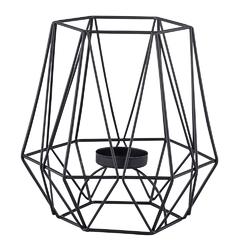 Świecznik metalowy geometryczny altom design czarny 15 cm