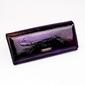 Portfel damski lakierowany fioletowy cavaldi pn20 - czarny