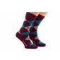 Skarpetki w romby bordowe patine socks