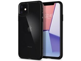 Etui spigen ultra hybrid do apple iphone 11 matte black + szkło alogy