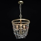 Lampa wisząca złota z kolorowymi kryształami valencia chiaro classic 299012004