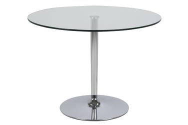 Stół szklany Berto 100x75 cm okrągły blat