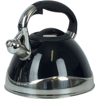 Czajnik stalowy czarny z gwizdkiem Varus Kela 3 Litry KE-11656