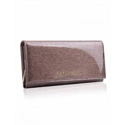 Stylowy damski portfel betlewski zbpd-bs-106 szary