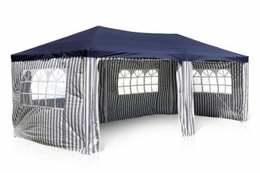 Namiot ogrodowy 3x6 m, niebiesko-biały pawilon handlowy