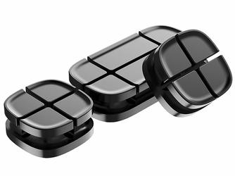 Baseus organizer do kabli Cross Peas Cable Clip czarny - Czarny
