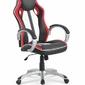 Fotel obrotowy roadster czarno-czerwony