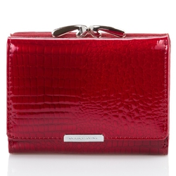 Skórzany portfel damski jennifer jones lakierowany 5243-rd
