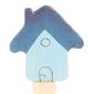 Drewniana figurka, błękitny domek, grimms