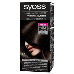 Syoss color, farba do włosów, 3-1 ciemny brąz