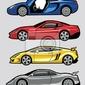 Plakat seria samochody zestaw 2