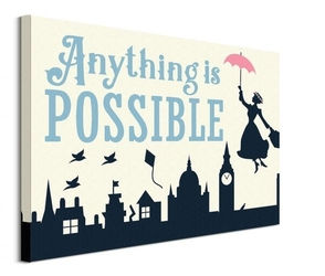 Mary poppins anything is possible - obraz na płótnie