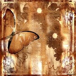 Board z aluminiowym obramowaniem tło z motylem