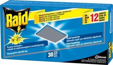 Raid, wkładki zapasowe do urządzenia elektrycznego przeciw komarom, 30 sztuk