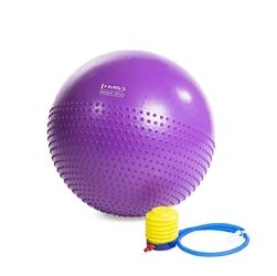 Piłka gimnastyczna masująca yb03 55 cm fioletowa - hms