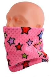 Wielofunkcyjny komin dzieciecy - czapka - szalik - chusta - kominiarka - 22 rozowa
