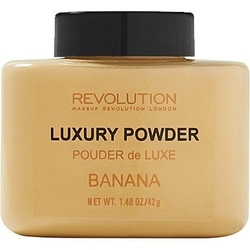 Makeup revolution luxary powder banana, lekki puder cery naczynkowej i oliwkowej 42g