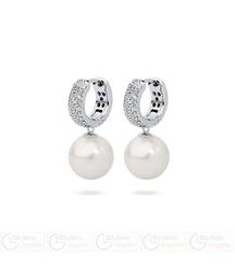 FC Kolczyki z perłą wiszące QC 3061221183 PM 12 kolor biały opalizujący