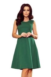 Zielona trapezowa sukienka bez rękawów