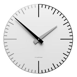 Zegar ścienny do salonu exacto 36 cm calleadesign biały 10-025-1