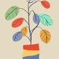 Kolorowe liście - plakat wymiar do wyboru: 61x91,5 cm