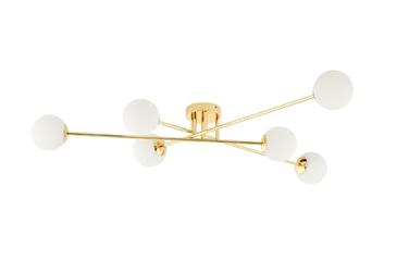 Kaspa :: lampa przysufitowa astra 6 kloszy złota
