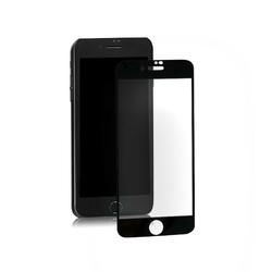 Qoltec Hybrydowe szkło ochronne do iPhone 7 | czarne | pełne