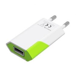 Techly Ładowarka sieciowa slim USB 230V-5V 1A BIAŁAZIELONA