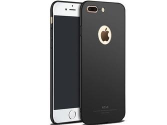 Etui msvii thin case apple iphone 7 plus z wycięciem czarne - czarny