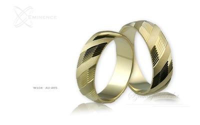 Obrączki ślubne - wzór au-465