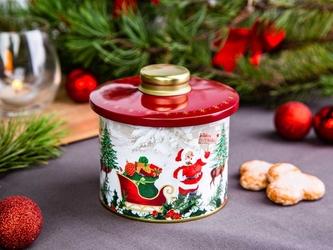 Puszka na ciasteczka i pierniki okrągła świąteczna altom design boże narodzenie z pokrywką 11 x 12,5 cm