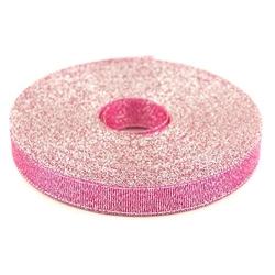 Wstążka brokatowa 12 mm32 m - różowy - RÓŻ