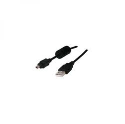 Kabel USB 2.0, USB A  M- 4 pin M, 1.8m, czarny, Logo, blistr, FUJI