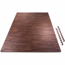 6 mat ochronnych + 12 krawędzi, wzór drewno