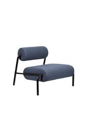 Zuiver :: fotel tapicerowany lekima ciemny niebieski