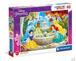 Clementoni puzzle 60 księżniczki przy fontannie nn
