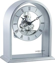 Zegar stołowy arch top skeleton srebrny