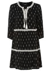 Sukienka tunikowa z koronką bonprix czarny