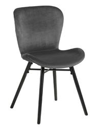 Krzesło batilda vic dark grey - szary