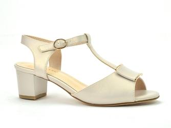 Sandały sergio leone sk806 beżowy  perła