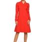 Czerwona sukienka z długim rękawem